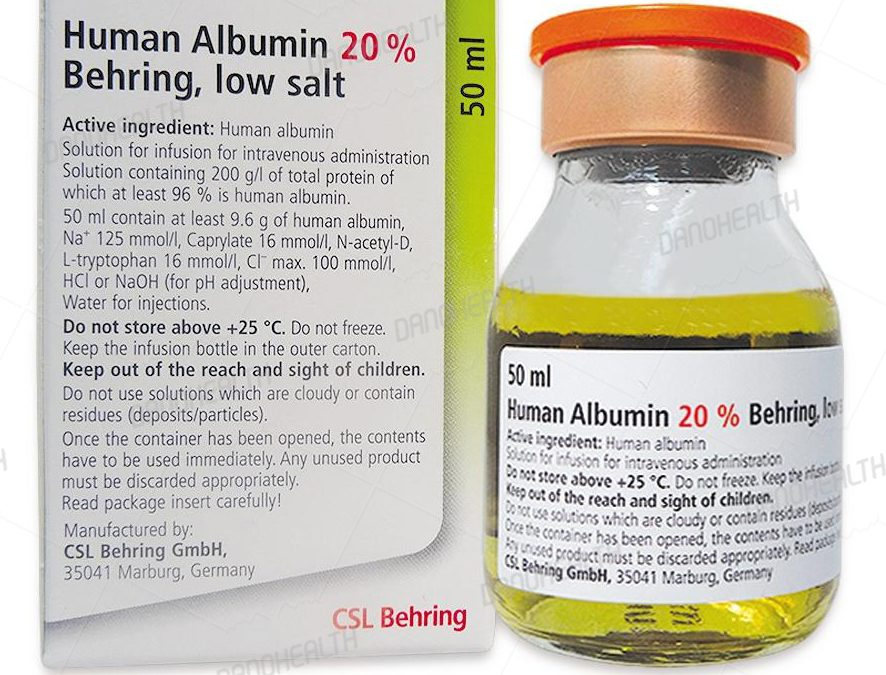 Albumin in Dano Health view is an article about Albumin